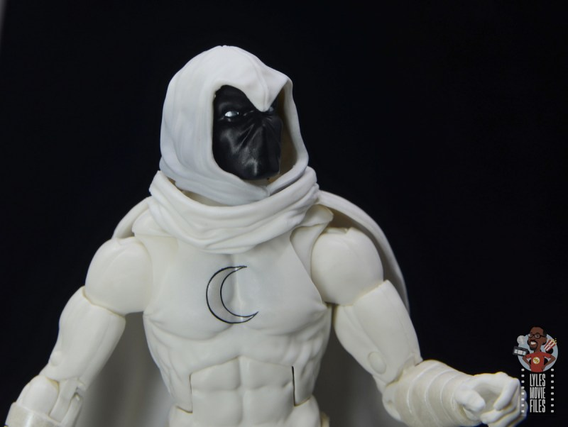 marvel legends moon knight figure review - looking up with black mask