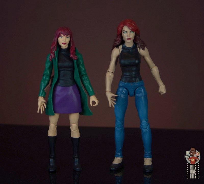 marvel legends retro gwen stacy figure review -mary jane head and mary jane