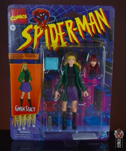 marvel legends retro gwen stacy figure review - package front