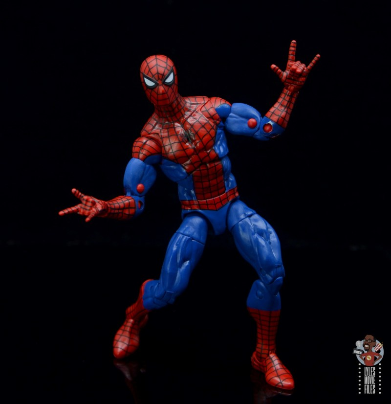 marvel legends retro spider-man figure review - posing