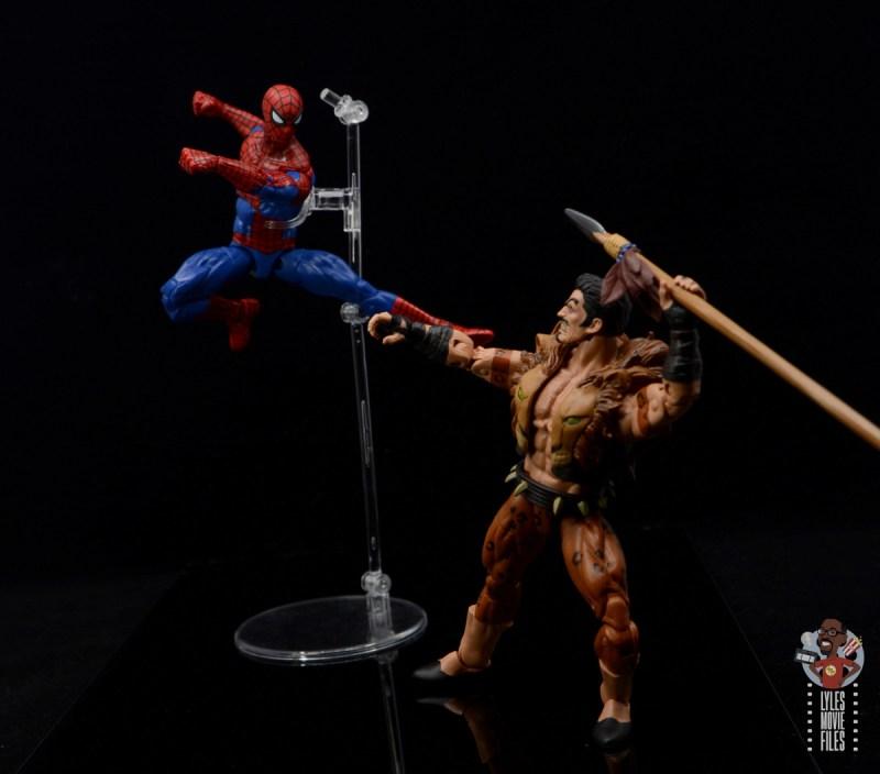 marvel legends retro spider-man figure review - vs kraven