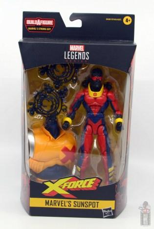 marvel legends sunspot figure review - package front