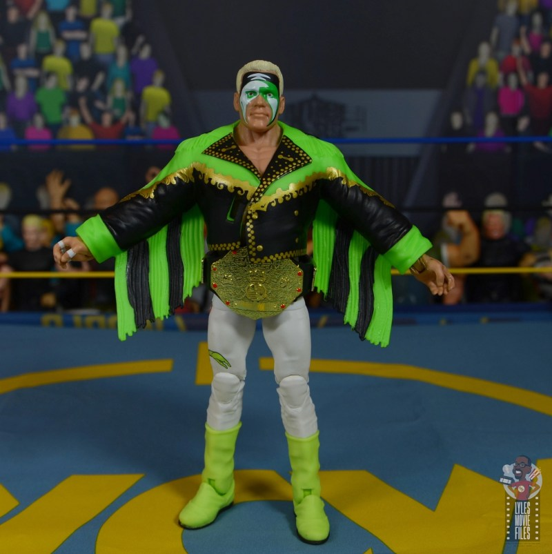 wwe elite 62 sting figure review - front with robe and title belt