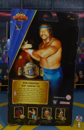 wwe elite hall of champions ron simmons figure review - package rear