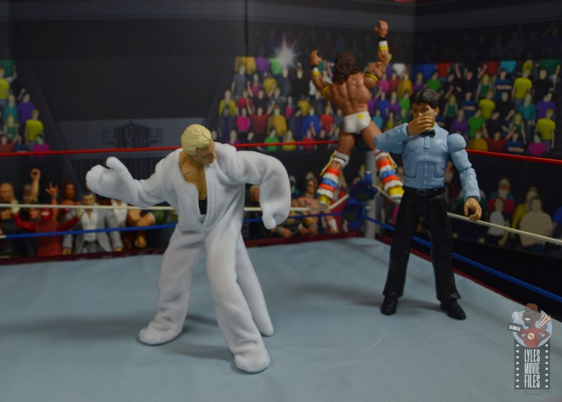 wwe legends 7 bobby the brain heenan figure review - brain shocked at his new outfit