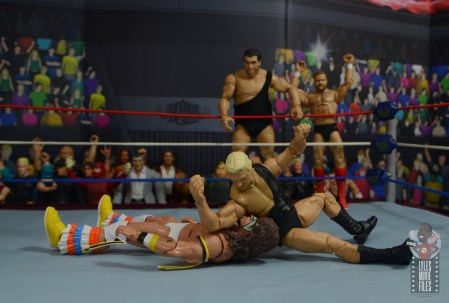 wwe legends 7 bobby the brain heenan figure review - elbow drop to ultimate warrior