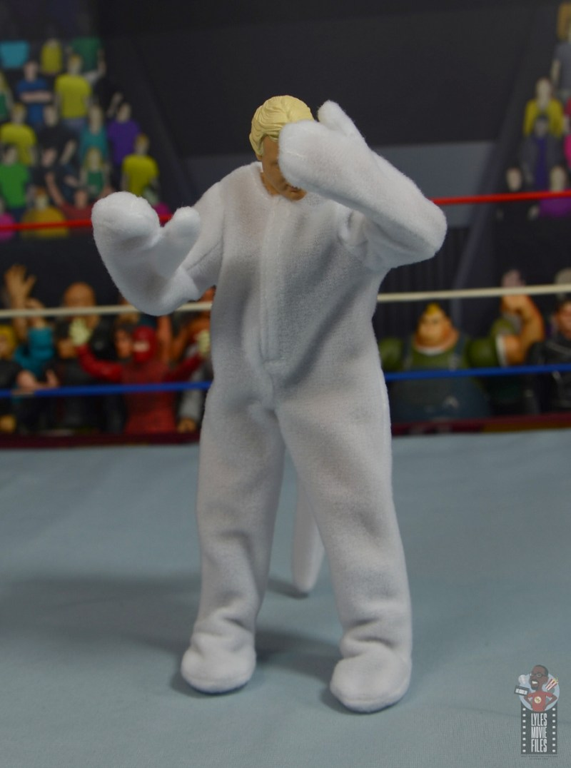wwe legends 7 bobby the brain heenan figure review - embarrased brain