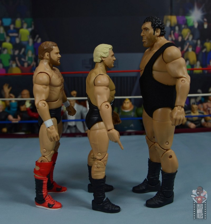 wwe legends 7 bobby the brain heenan figure review - facing andre the giant and arn anderson