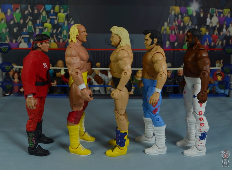 wwe legends 7 greg the hammer valentine figure review - facing steamboat, hogan, honky tonk and jyd