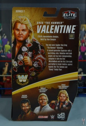 wwe legends 7 greg the hammer valentine figure review - package rear