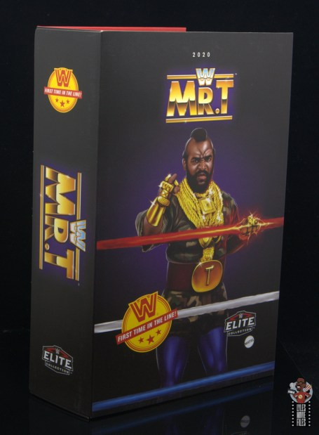 wwe sdcc elite mr. t figure review - inner package side and front