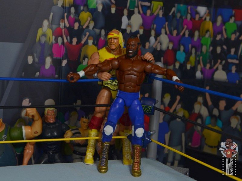 wwe sdcc elite mr. t figure review - ready for action with hulk hogan