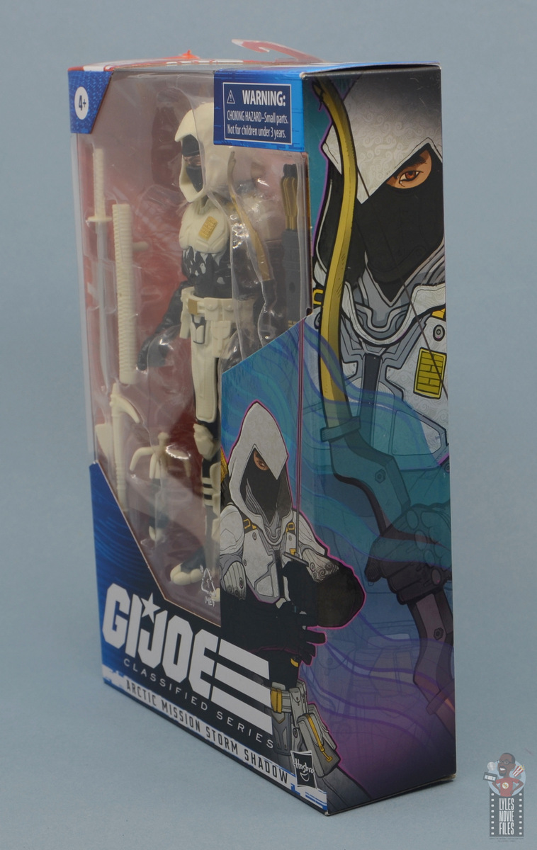 g.i. joe classified series arctic storm shadow figure review - package left side