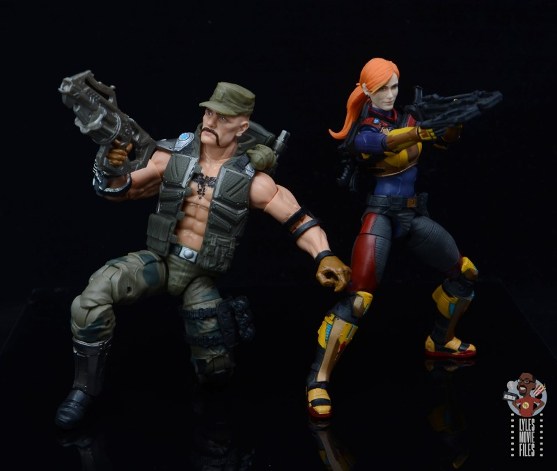 g.i. joe classified series gung-ho figure review -back to back with scarlett