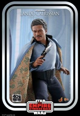 hot toys empire strikes back lando calrissian figure -close up with blaster
