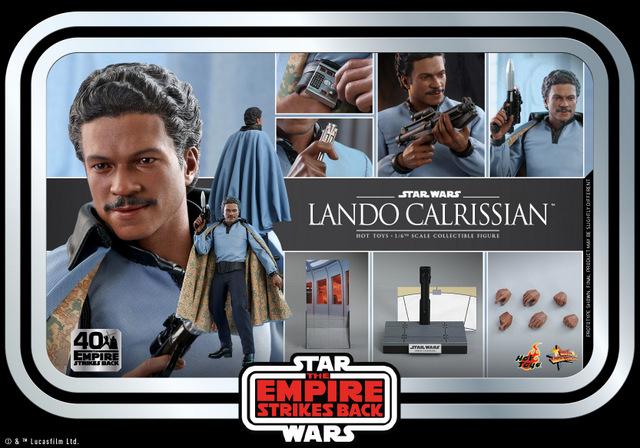 hot toys empire strikes back lando calrissian figure - collage