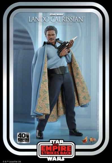 hot toys empire strikes back lando calrissian figure -cradling blaster