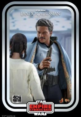 hot toys empire strikes back lando calrissian figure - with princess leia