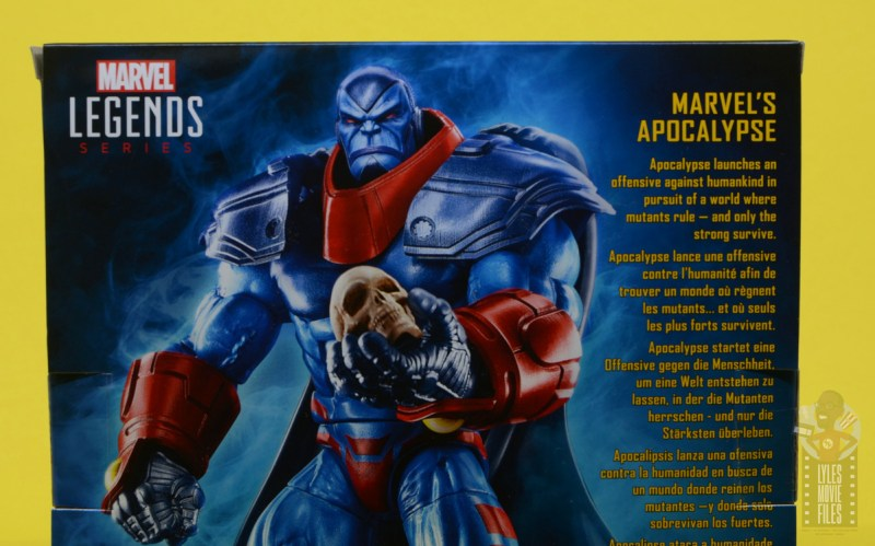 marvel legends apocaylpse - apocalypse figure review -package bio