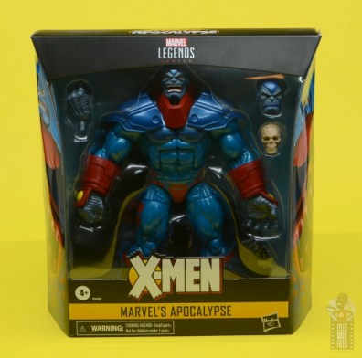 marvel legends apocaylpse - apocalypse figure review -package front