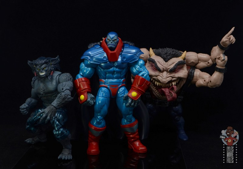 marvel legends apocaylpse - apocalypse figure review - with dark beast and sugar man