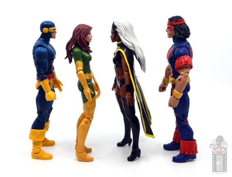marvel legends storm and thunderbird figure review - facing cyclops and phoenix