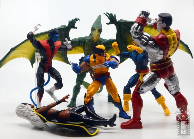 marvel legends storm and thunderbird figure review - sauron vs the x-men