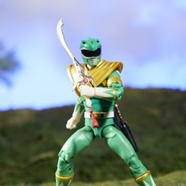 mighty morphin power rangers green ranger figure - blade drawn