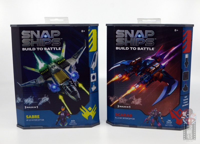 snap ships klaw interceptor and sabre xf-23 interceptor review - front packages