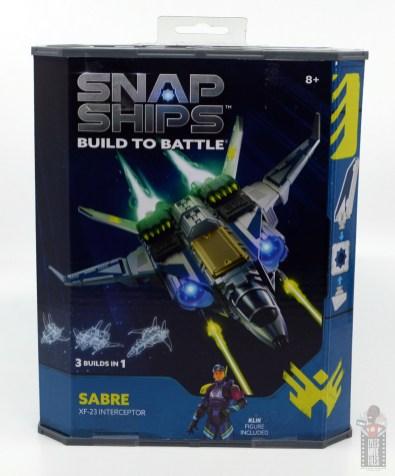 snap ships sabre x-23 interceptor review - front