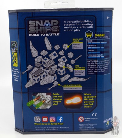 snap ships sabre x-23 interceptor review -package rear