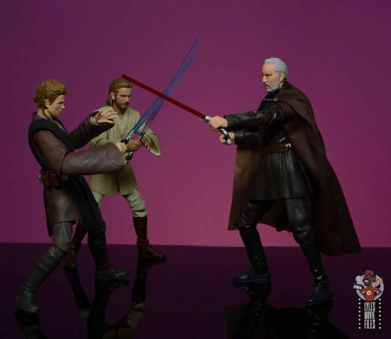 star wars the black series count dooku figure review - duel with anakin and obi-wan