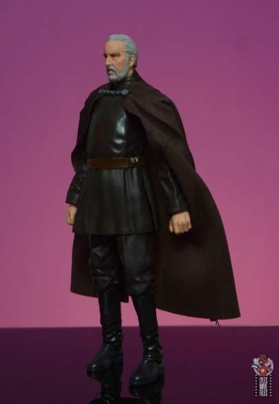 star wars the black series count dooku figure review - left side
