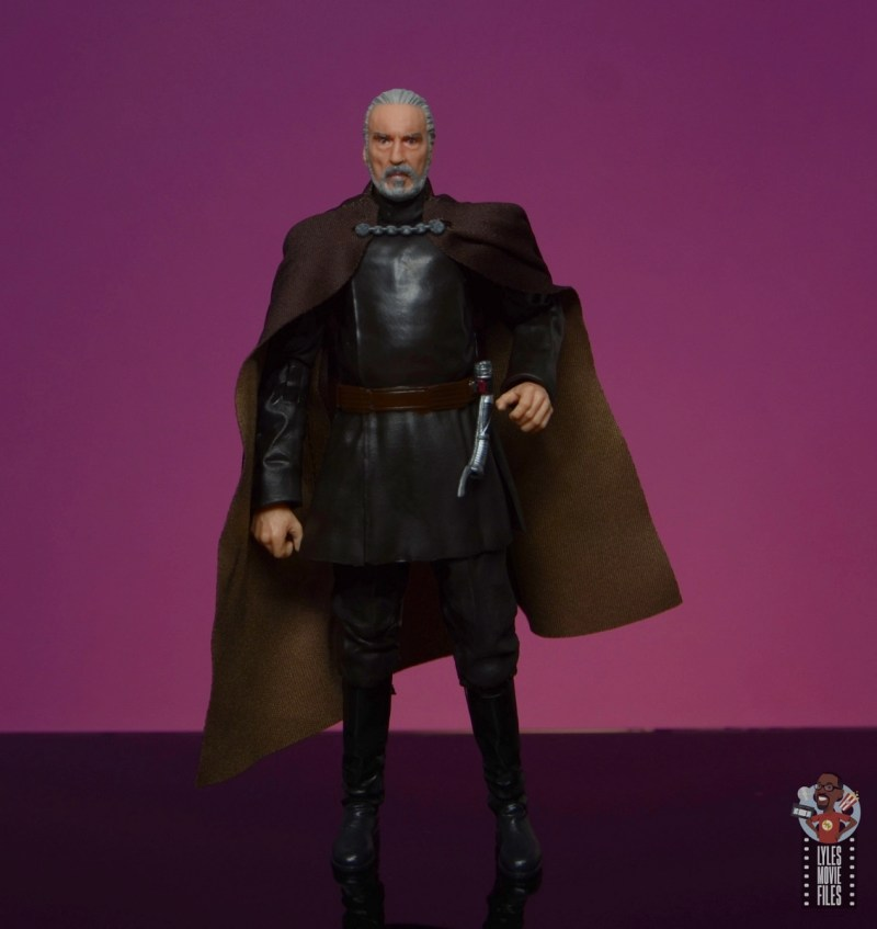 star wars the black series count dooku figure review - reaching for lightsaber
