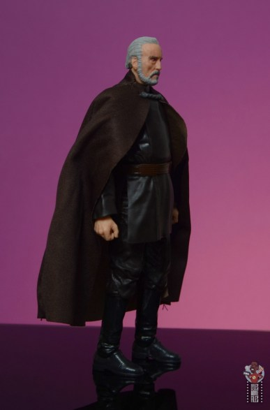 star wars the black series count dooku figure review - right side