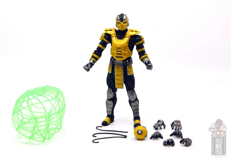storm collectibles mortal kombat cyrax figure review - accessories out