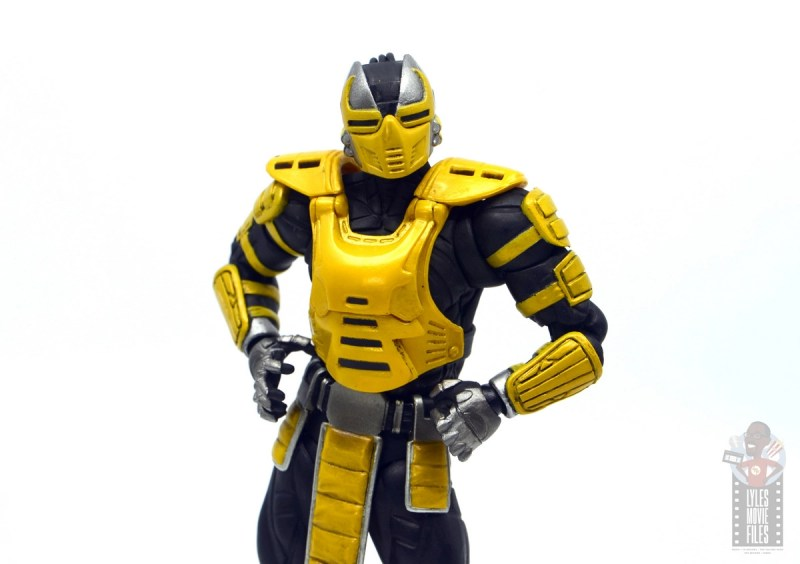 storm collectibles mortal kombat cyrax figure review - hands on hips