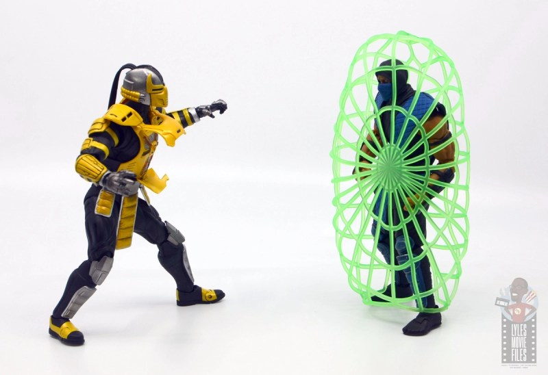 storm collectibles mortal kombat cyrax figure review - netting sub-zero