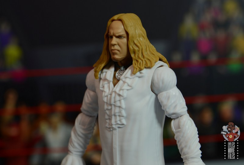 wwe elite brood christian figure review -outfit close up
