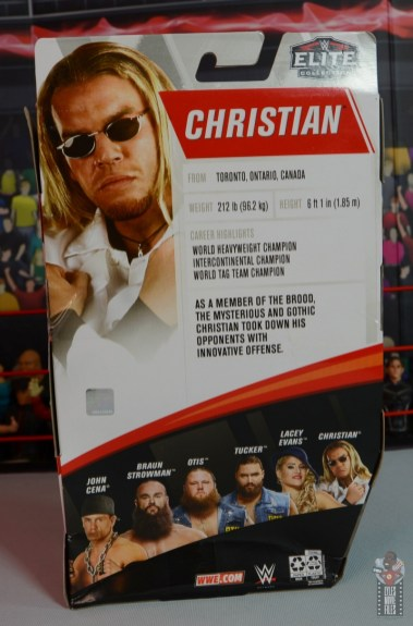 wwe elite brood christian figure review - package rear