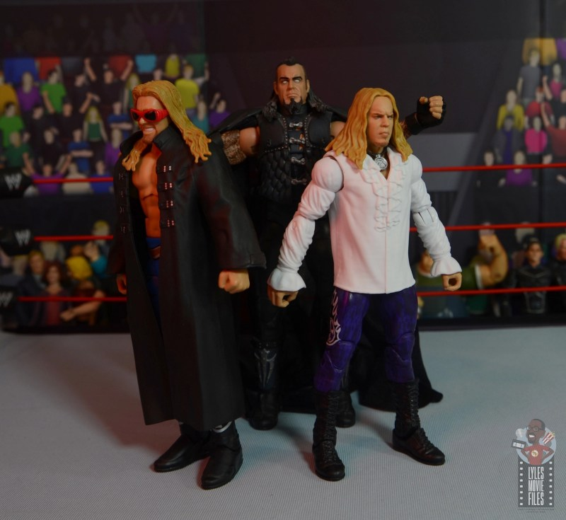 wwe elite brood christian figure review - standing with the ministry of darkness undertaker
