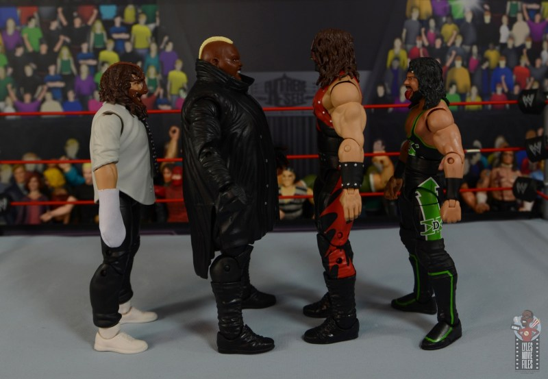 wwe elite series 77 viscera figure review - facing mankind, kane and x-pac