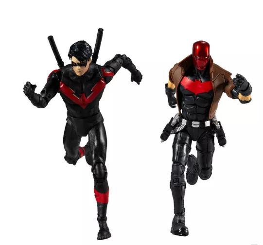DC Comics Battle Scene Multipack - Nightwing Vs. Red Hood running