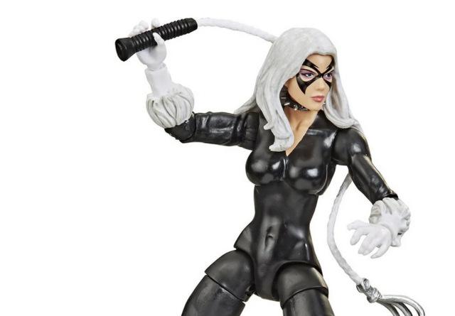 Spider-Man Retro Marvel Legends Black Cat 6-Inch Action Figure - main