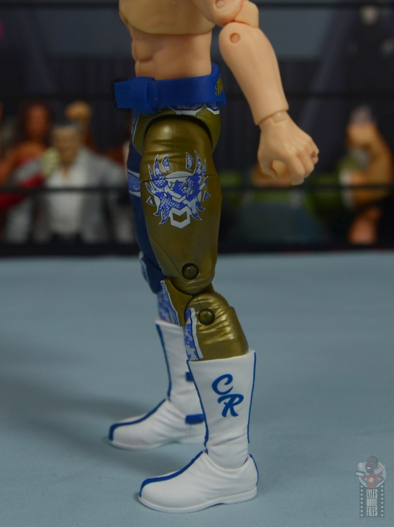 aew unrivaled cody figure review - close up tight and boot detail