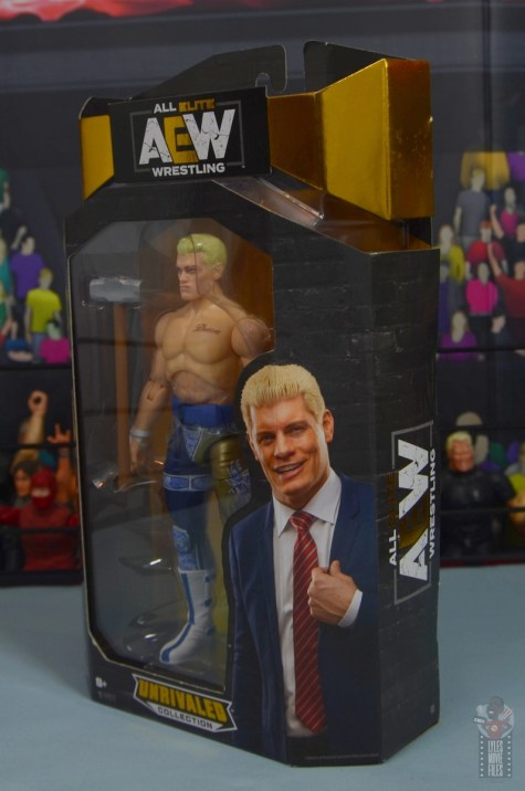aew unrivaled cody figure review - package left side