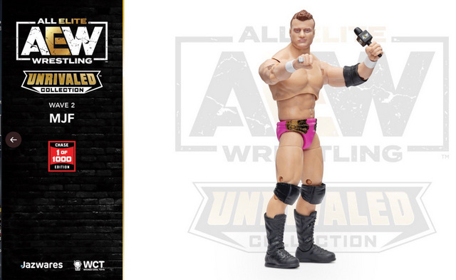 aew unrivaled mjf figure