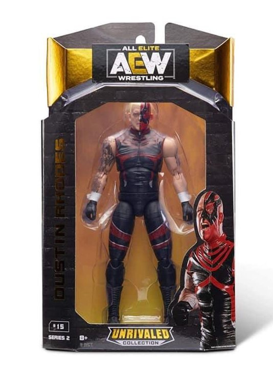 aew unrivaled wave 2 dustin rhodes front package