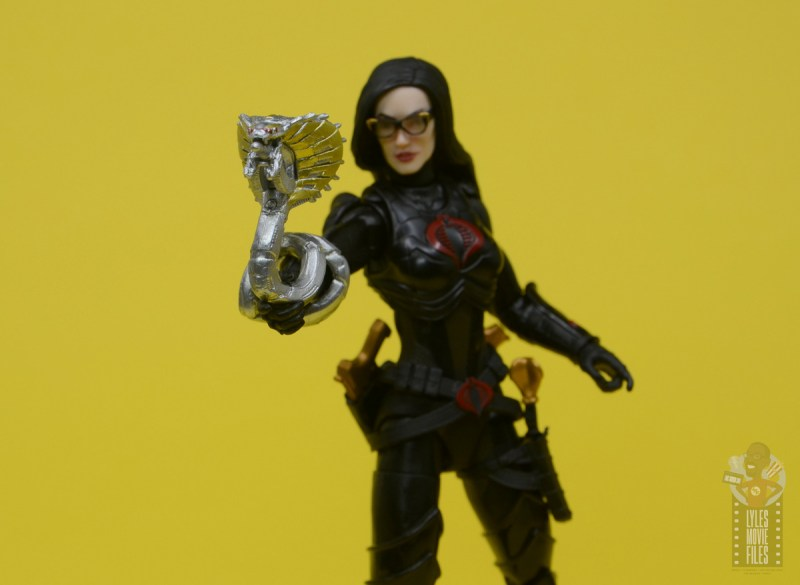 g.i. joe classified series baroness and cobra coil figure review - mechanical snake close up