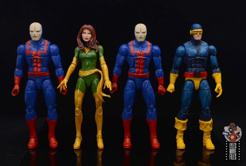 marvel legends hellfire club guard figure review - scale with phoenix and cyclops